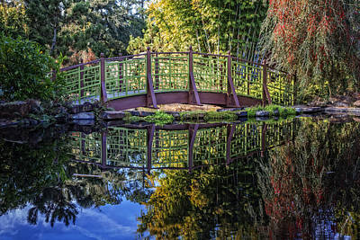 Photograph - Garden Bridge by Debra and Dave Vanderlaan