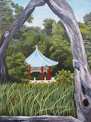 Garden By The Bay Art Print by Lisa Barr