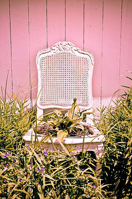 Photograph - Garden Chair - Baby Pink by Colleen Kammerer