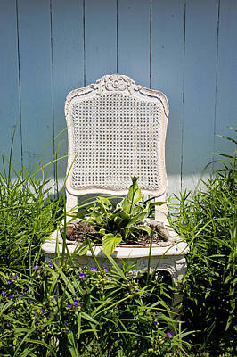 Photograph - Garden Chair - French Blue by Colleen Kammerer