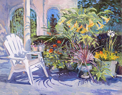 Garden Chair In The Patio Art Print