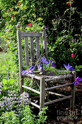 Photograph - Garden Chair by Paula Guttilla