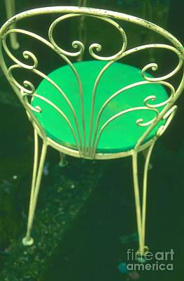 Photograph - Garden Chair Series-green by Tamarra Tamarra