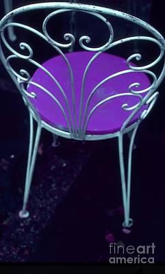 Photograph - Garden Chair Series-violet by Tamarra Tamarra