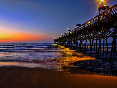 Photograph - Garden City Beach Pier by Terry Shoemaker