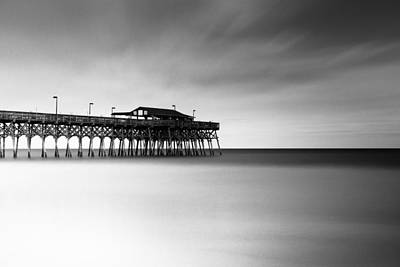 Pier Wall Art - Photograph - Garden City Pier Bw I by Ivo Kerssemakers