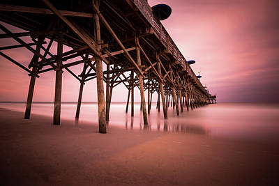 South Carolina Wall Art - Photograph - Garden City Pier June Sunset by Ivo Kerssemakers