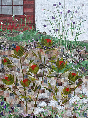 Mixed Media - Garden Collage by Janyce Boynton