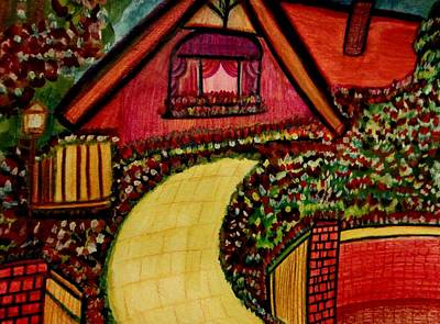 Movement Painting - Garden Cottage by Stephanie Zelaya