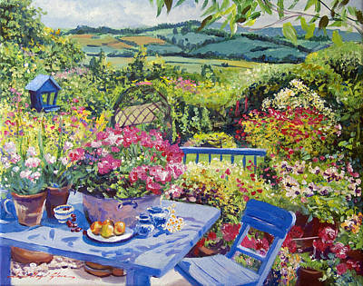 Terra Cotta Painting - Garden Country by David Lloyd Glover