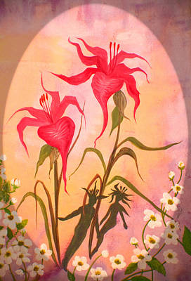 Painting - Garden Couple by Adria Trail