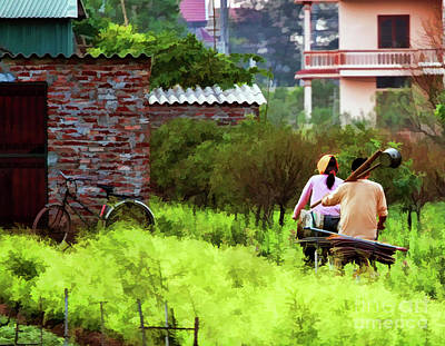 Photograph - Garden Couple Color Hanoi Home  by Chuck Kuhn
