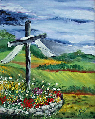 Painting - Garden Cross by Dina Jacobs