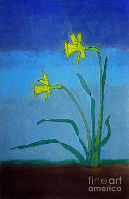 Appleton Painting - Garden Daffodils by Norma Appleton