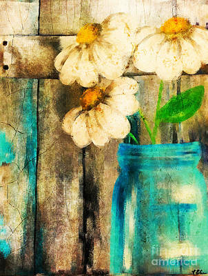 Painting - Garden Daisies by Tina LeCour