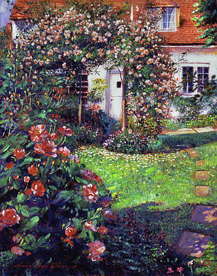 Blooming Painting - Garden Delights by David Lloyd Glover