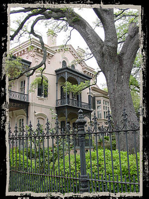 Garden District House Art Print by Linda Kish