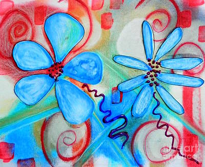 Mixed Media - Garden Doodles by L Cecka