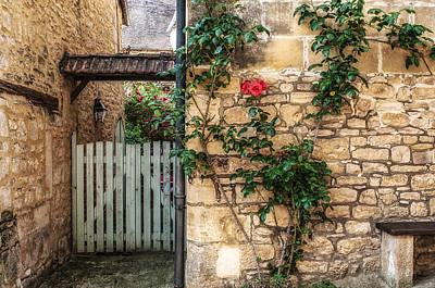 Garden Door In Sarlat France Art Print