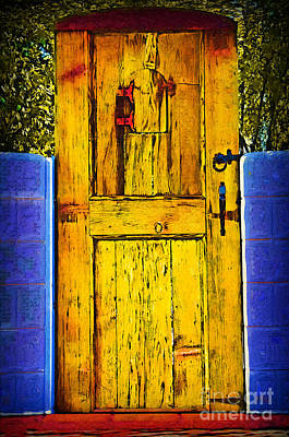 Digital Art - Garden Door by Kirt Tisdale