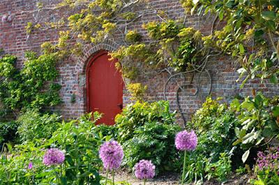 Photograph - Garden Door - Paint With Canvas Texture by Shanna Hyatt