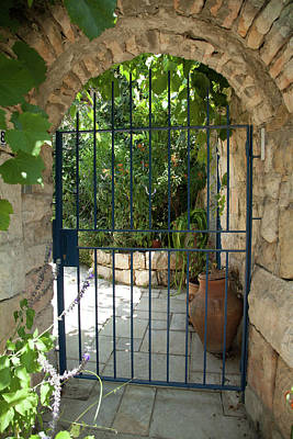 Art Print featuring the photograph Garden Door Entrance by Yoel Koskas