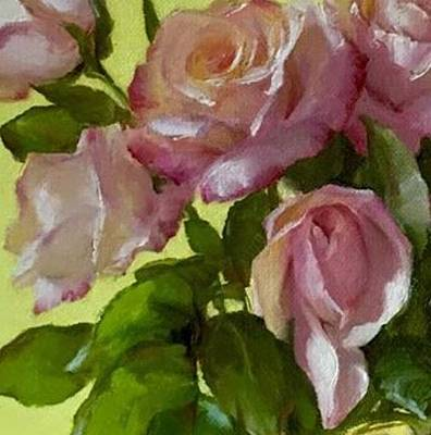 Painting - Garden Elegance Detail Image by Diane Reeves