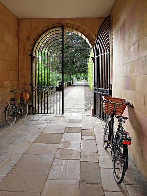 Photograph - Garden Entrance Clare College by Gill Billington