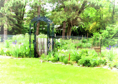 Photograph - Garden Entrance by Susan Crossman Buscho