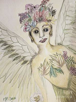 Drawing - Garden Fairy 17-01 by Maria Urso