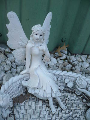 Photograph - Garden Fairy by Stephen Davis