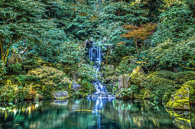 Photograph - Garden Falls by Mark Dunton