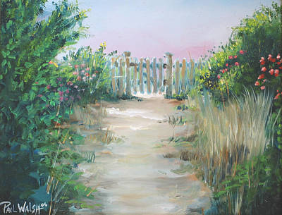 Garden Fence Print by Paul Walsh