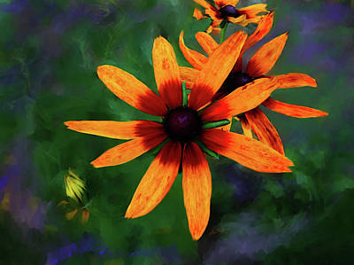 Digital Art - Garden Flower by Lisa Redfern