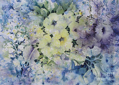 Garden-flowers Art Print by Nancy Newman