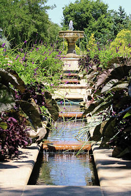 Photograph - Garden Fountain by Captain Debbie Ritter