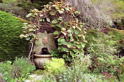Photograph - Garden Fountain by Floyd Snyder