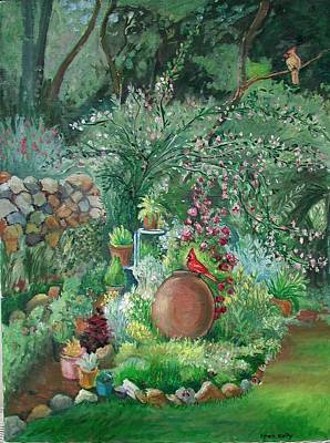 Stonewall Painting - Garden by Fran Kelly
