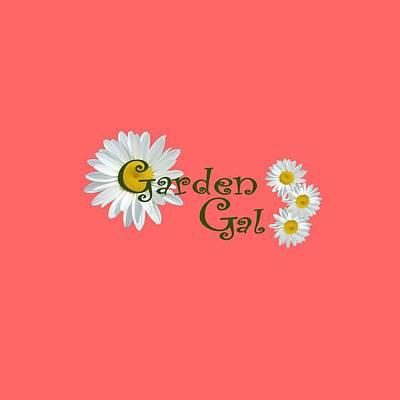 Digital Art - Garden Gal by Donna Cervelli