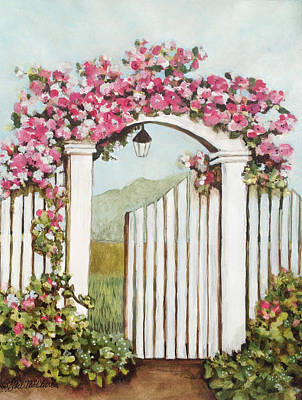 Garden Gate 4 Art Print by Gail McClure