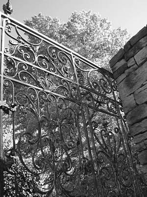 Garden Gate Art Print by Audrey Venute