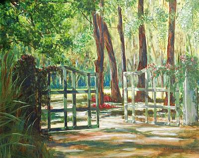 Garden Gate Art Print by Beth Maddox