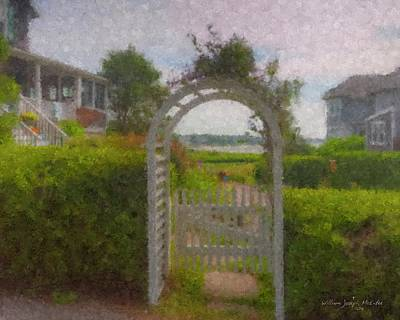 Painting - Garden Gate Falmouth Massachusetts by Bill McEntee