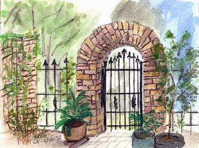 Painting - Garden Gate by Kevin Callahan