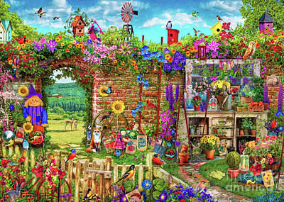 Digital Art - Garden Gate by Aimee Stewart
