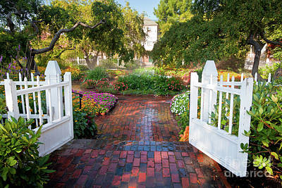 Art Print featuring the photograph Garden Gate by Susan Cole Kelly