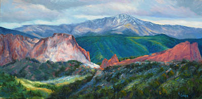 Pikes Peak Painting - Garden Gateway by Gary Gore