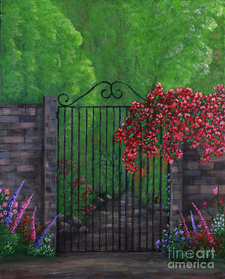 Painting - Garden Gateway by Kristi Roberts