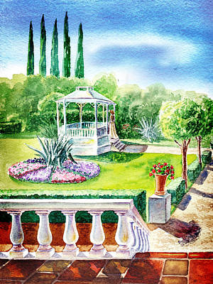 Gazebo Wall Art - Painting - Garden Gazebo by Irina Sztukowski