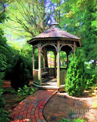 Photograph - Garden Gazebo by Kerri Farley